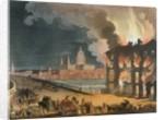 Fire in London by T. & Pugin