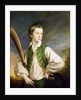 Charles Collyer as a boy, with a cricket bat by Francis Cotes