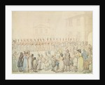 A Review of the Northamptonshire Militia at Brackley, Northants by Thomas Rowlandson