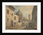 A Street in Florence with the Duomo and Campanile in the Background by William Marlow