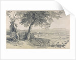 Campagna of Rome from Villa Mattei by Edward Lear