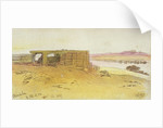 View on the Thames with Westminster Bridge by Edward Lear