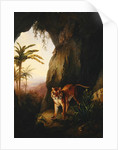 Tiger in a cave by Jacques-Laurent Agasse