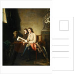 Portrait of a Man and a Boy looking at Prints, c.1765-70 by John Hamilton Mortimer