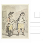 A Bookmaker and his client outside the Ram Inn, Newmarket by Thomas Rowlandson
