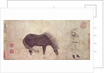 Horse and Groom in Winter by Zhao Mengfu Chao Meng-Fu or
