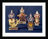 Four of the incarnations of Vishnu by Indian School