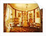 Drawing room of the Chateau de Sache by French School