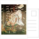 The Last Stand of the Kusanoki Clan, the Battle of Shijo Nawate by Utagawa Kuniyoshi