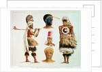 Various Dancing Costumes Worn at Nakello, Fiji by Michael Hanhart
