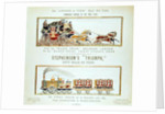 The 'London and York' Royal Mail Coach and Stephenson's 'Triumph' by English School