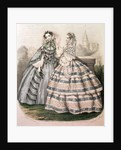 Day Dress for 1858, engraved by Barreau by French School