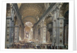Interior of St. Peter's, Rome by Louis Haghe