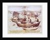 Boats in Goa by Johannes Baptista van