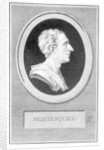 Charles Louis de Secondat, Baron de Montesquieu by Augustin de Saint-Aubin