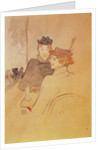 Two women sitting in a cafe by Henri de Toulouse-Lautrec
