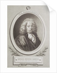 Portrait of George Frederick Handel frontispiece of a music score by French School