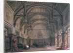 Stage set for Act III of the play 'Henry VIII' by William Shakespeare by Philippe Marie Chaperon