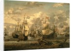 Episode of the Four Days Battle, 1st-4th June 1666 by Abraham Storck
