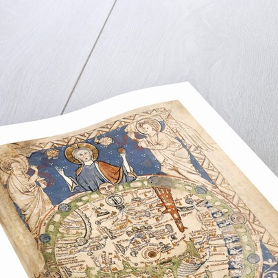 Psalter World Map by Anonymous