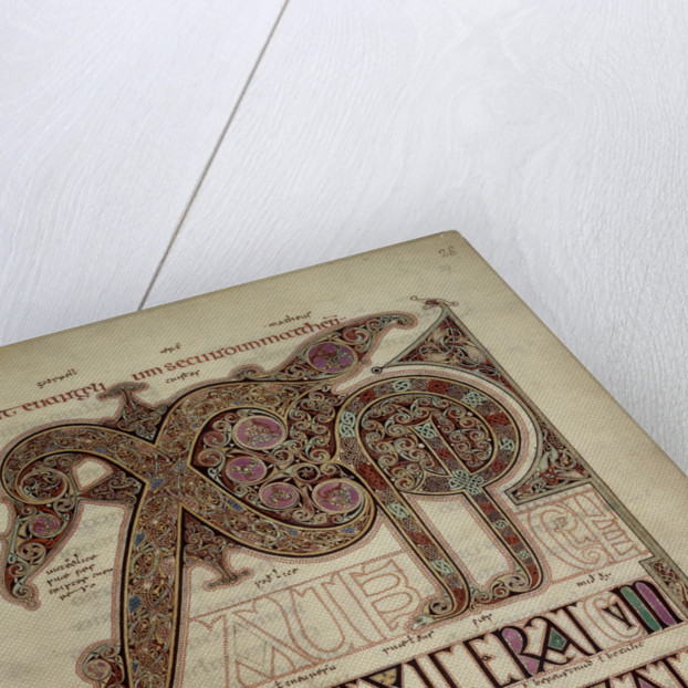 Lindisfarne Gospels St. Matthew's Gospel by Anonymous