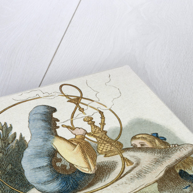 Alice meets the blue caterpillar by Sir John Tenniel
