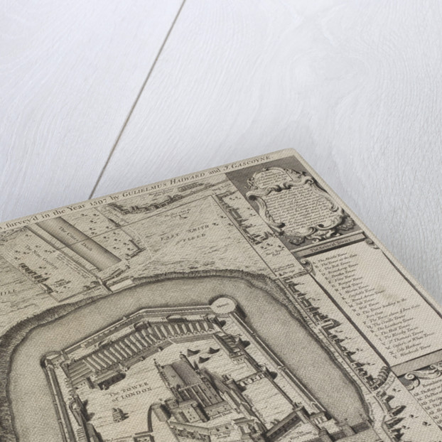 A plan of the Tower of London by Anonymous