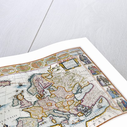 A map of Europe by J Blaeu