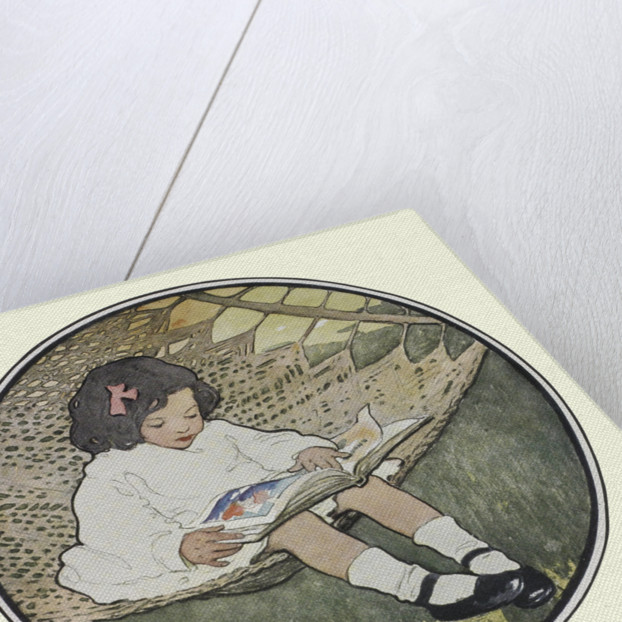 Sitting in a hammock by Jessie Willcox Smith