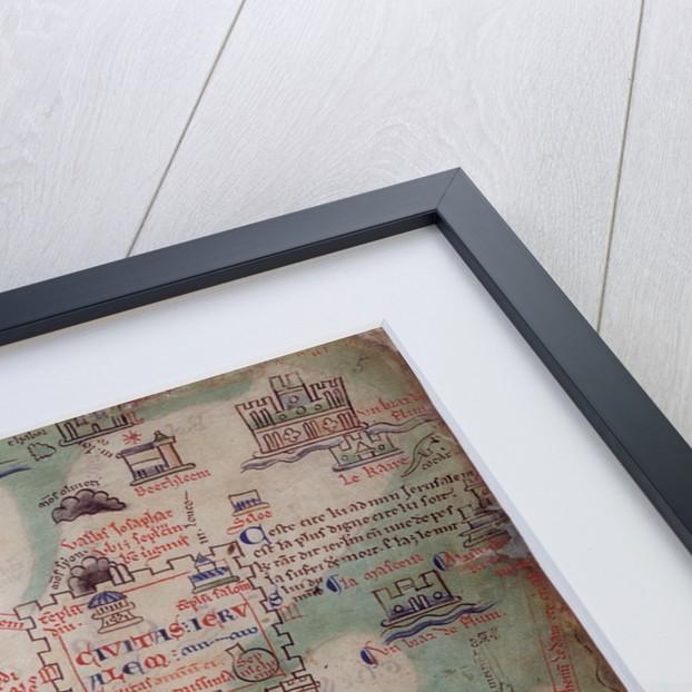 Map of Jerusalem by Matthew Paris by Matthew Paris