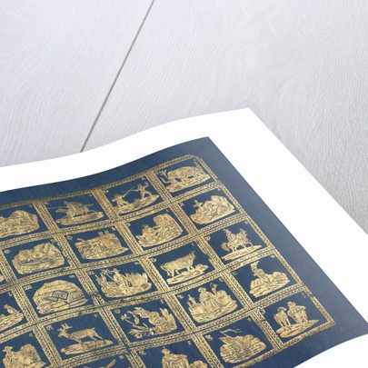 Gold embossed paper by Anonymous
