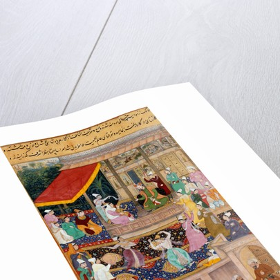 The child Akbar recognizes his mother at Kabul in 1545 by Madhu