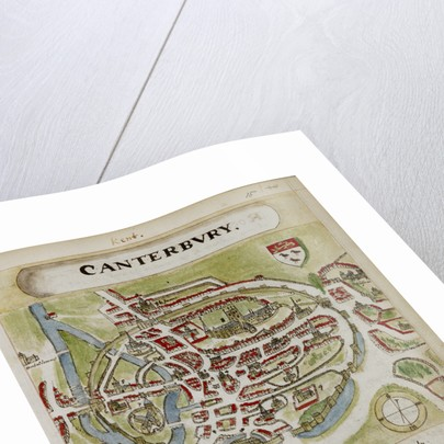 A historic map of Canterbury by Anonymous