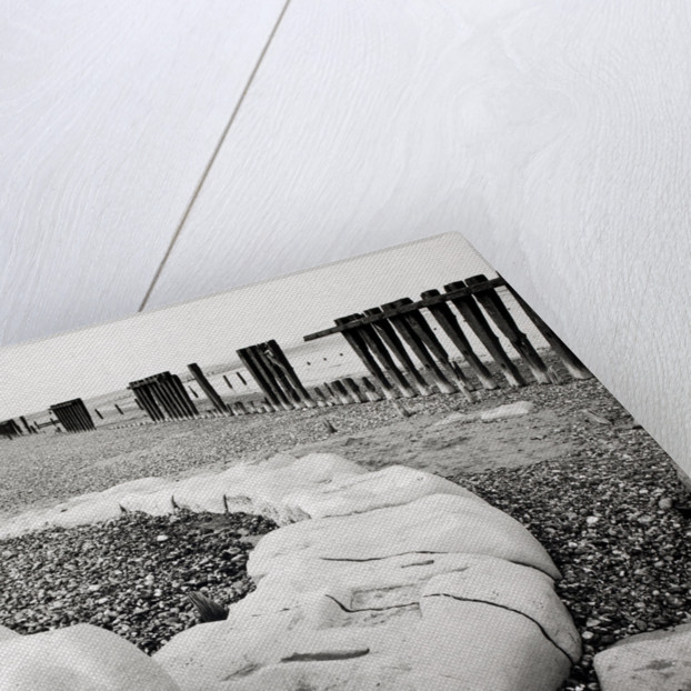 Groynes and older stone groynes by Fay Godwin