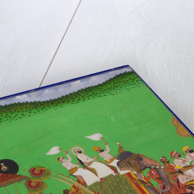 Maharana Fateh Singh of Udaipur atop an elephant by Shivalal