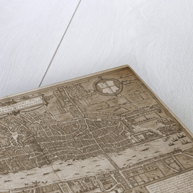 Map of London by Georg Braun