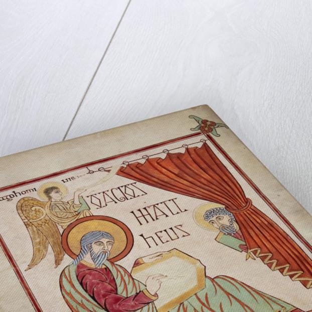 St Matthew in the Lindisfarne Gospels by Eadfrith