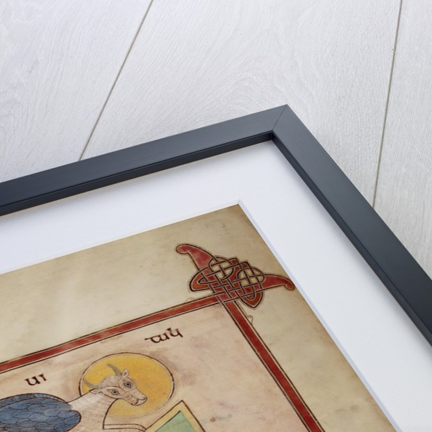St Luke in the Lindisfarne Gospels by Eadfrith