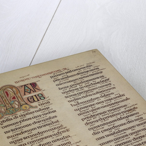 Preface to St Mark's Gospel in the Lindisfarne Gospels by Anonymous