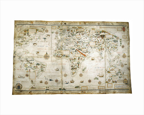 Map of the World by Pierre Desceliers