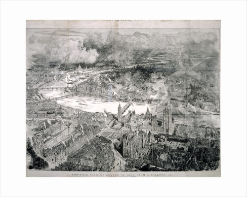 Bird's-eye view of London by W L Wyllie