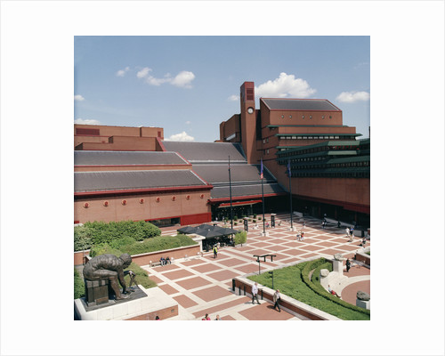 The British Library piazza by The British Library