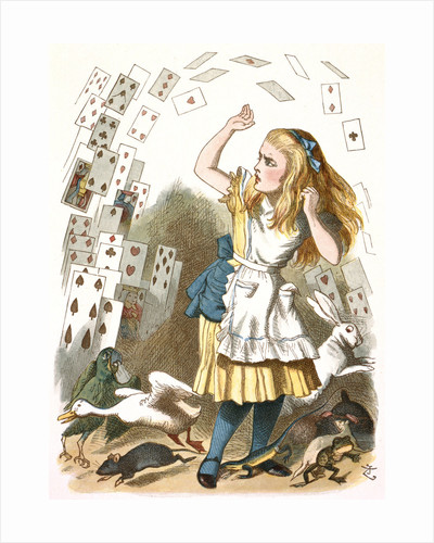 The shower of cards by John Tenniel