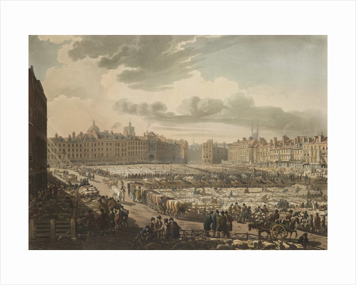 Smithfield market by Pugin Rowlandson