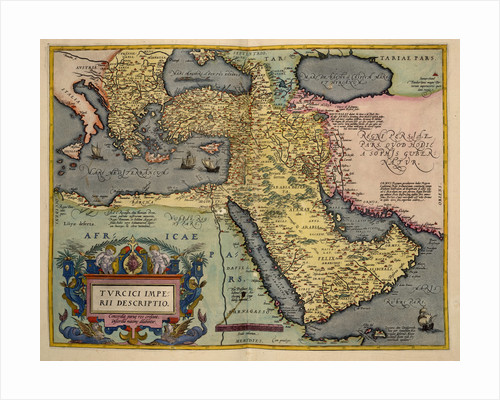 The Middle East by Abraham Ortelius