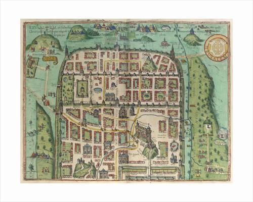 Map of Jerusalem by Georg Braun