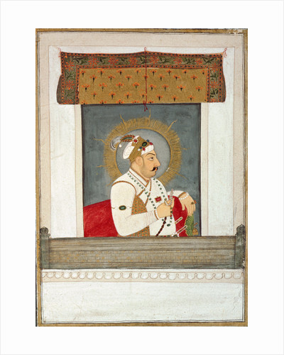 Muhammad Shah at the jharoka, c.1735-40 by Govardhan II