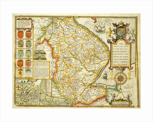 Map of Lincolnshire by John Speed