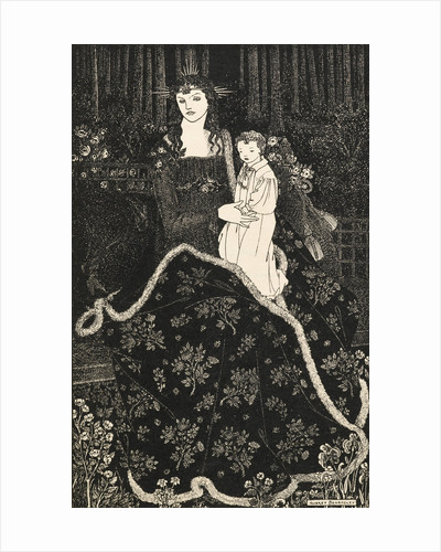 Christmas Card by Aubrey Beardsley