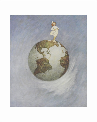 Young girl standing on the Earth by Jessie Willcox Smith